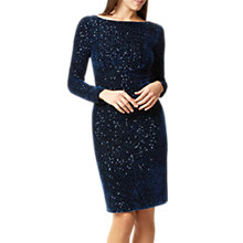 Buy Hobbs Sawyer Sequined Velvet Dress, Navy Online at johnlewis.com