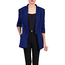 Buy Jolie Moi Open Front Detail Blazer, Royal Blue Online at johnlewis.com