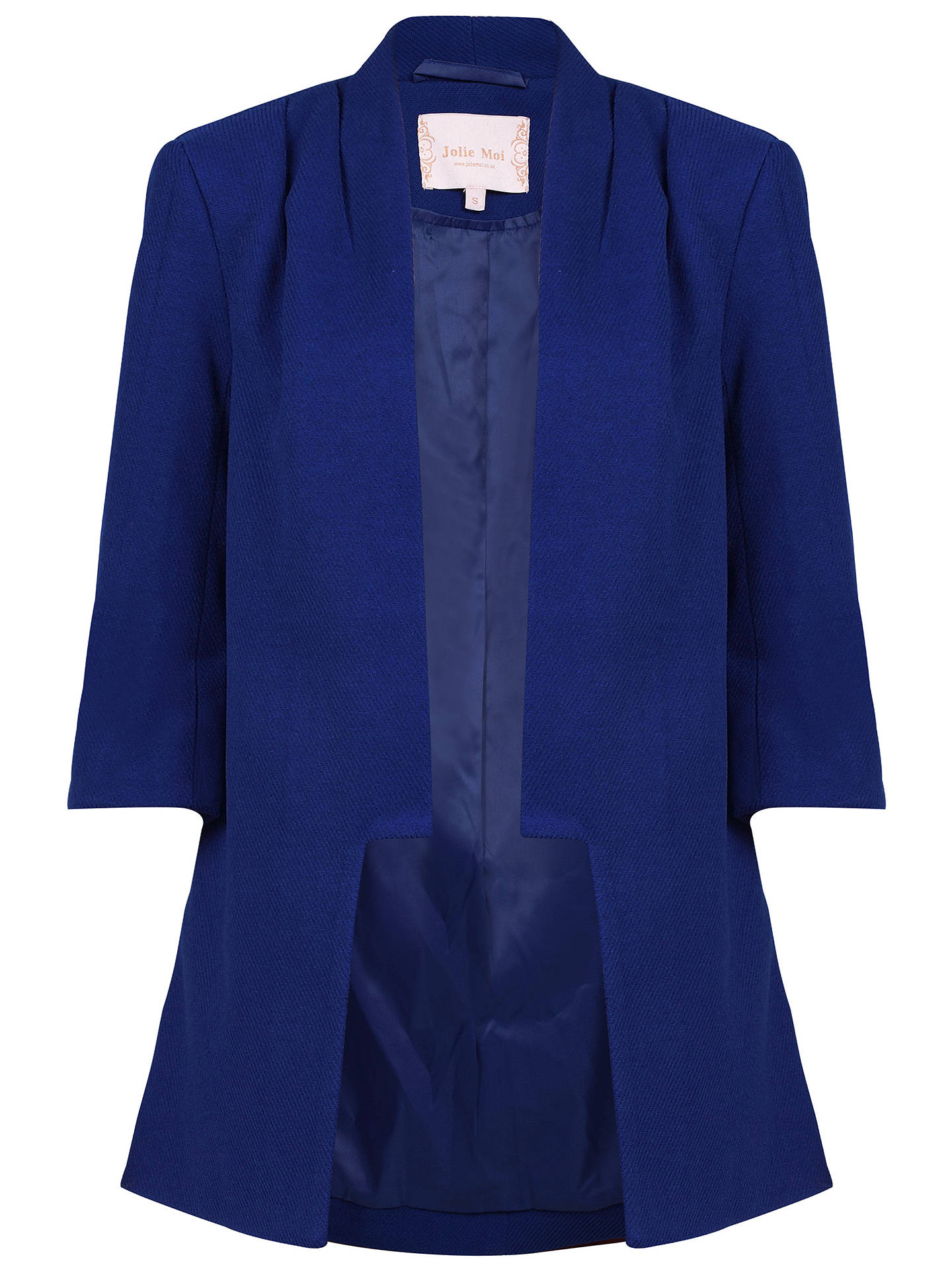 BuyJolie Moi Open Front Detail Blazer, Royal Blue, 8 Online at johnlewis.com