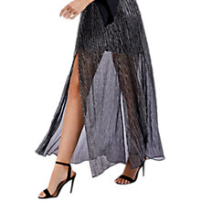 Buy Coast Brean Metallic Skirt, Silver Online at johnlewis.com