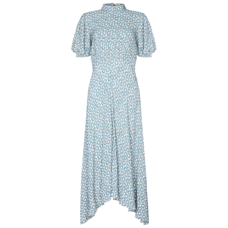 Ghost Jenna Dress, Blue Floral at John Lewis