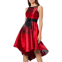 Buy Coast Zala Jacquard Midi Dress, Red Online at johnlewis.com