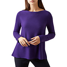 Buy Hobbs Nikki Jumper, Royal Purple Online at johnlewis.com