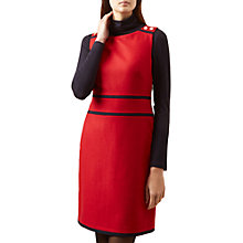 Buy Hobbs Reba Dress, Red Online at johnlewis.com