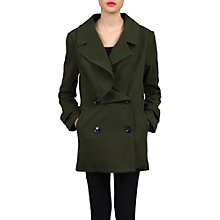 Buy Jolie Moi Asymmetric Front Coat, Soldier Green Online at johnlewis.com