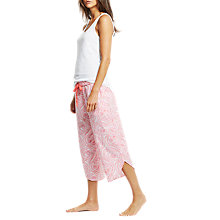 Buy Joules Florrie Paisley Cropped Pyjama Bottoms, Pink Online at johnlewis.com