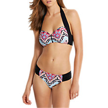 Buy Seafolly Sahara Night Soft Cup Halter Bikini Top, Black/Multi Online at johnlewis.com