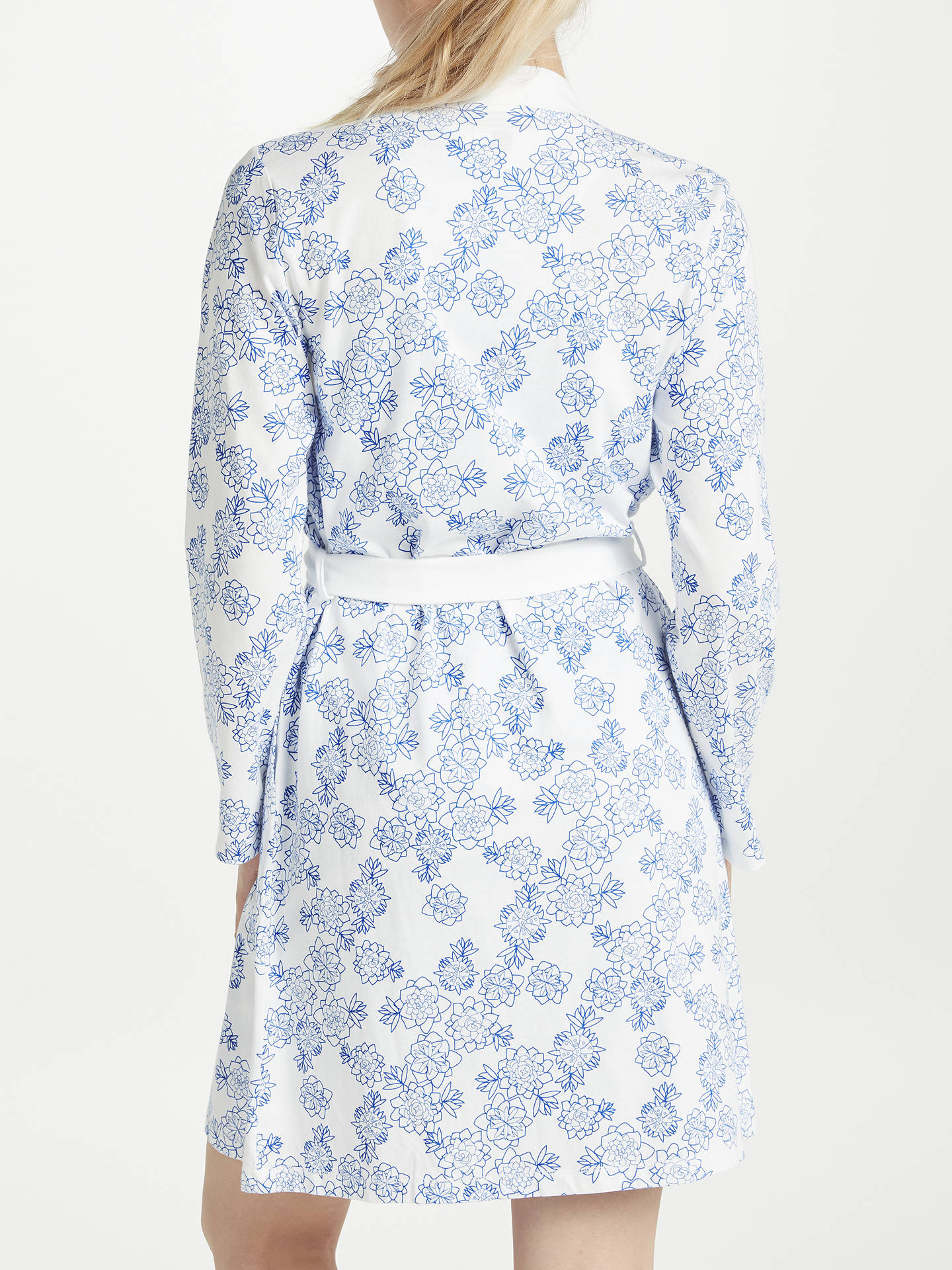 John Lewis & Partners Melissa Floral Print Cotton Jersey Dressing ...