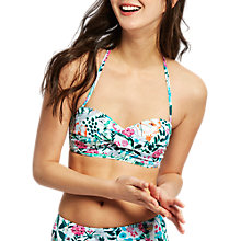 Buy Joules Delta Secret Garden Bandeau Bikini Top, Multi Online at johnlewis.com