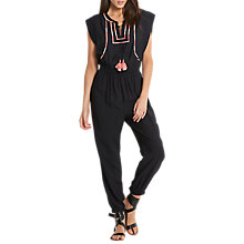 Buy Seafolly Sahara Nights Embroidered Jumpsuit, Black Online at johnlewis.com