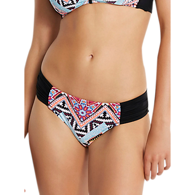 Product photo of Seafolly sahara nights ruched side bikini bottoms black multi