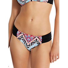 Buy Seafolly Sahara Nights Ruched Side Bikini Bottoms, Black/Multi Online at johnlewis.com