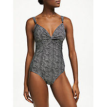 Buy John Lewis Textured Animal Print Control Swimsuit, Multi Online at johnlewis.com