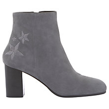 Buy Mint Velvet Mila Block Heeled Ankle Boots, Dark Grey Suede Online at johnlewis.com