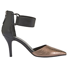 Buy Mint Velvet Renae Court Shoes, Metallic Online at johnlewis.com