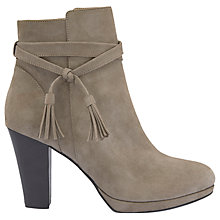 Buy Mint Velvet Tailor Block Heeled Court Shoes, Taupe Suede Online at johnlewis.com