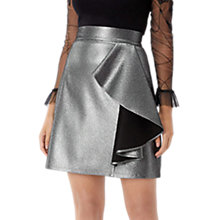 Buy Coast Beth Metallic A-Line Skirt, Gun Metal Online at johnlewis.com