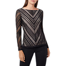 Buy Coast Sinead Lace Top, Black Online at johnlewis.com