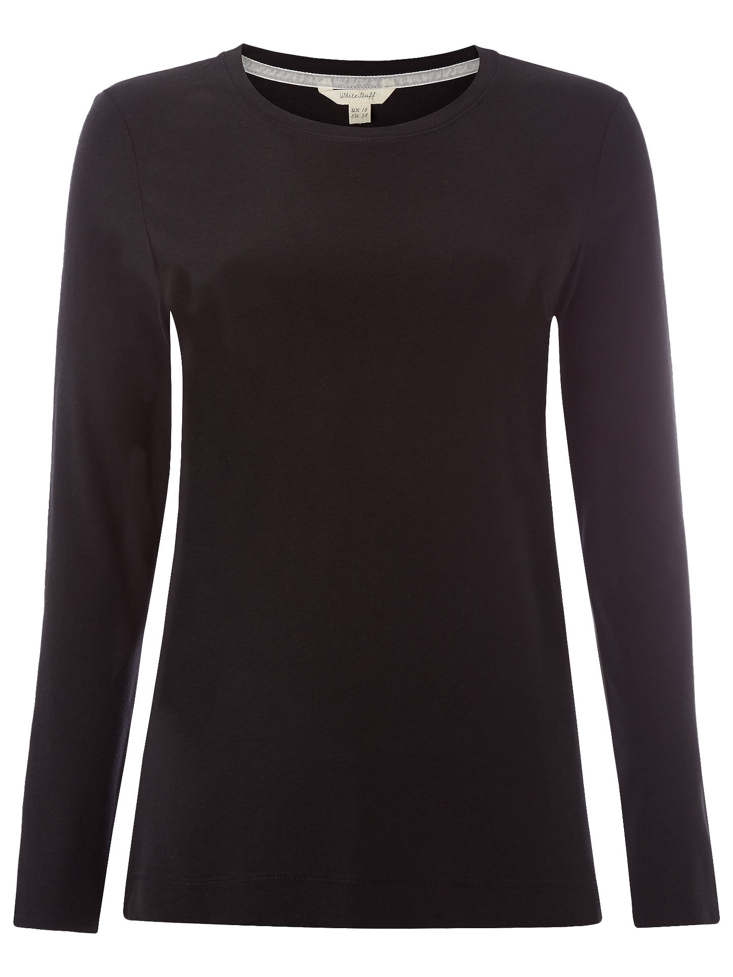 331f3429ce0 Buy White Stuff Long Sleeve Brushed Layer Jersey T-Shirt, Black, 6 Online  ...