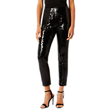 Buy Coast Tierra Sequin Leggings, Black Online at johnlewis.com
