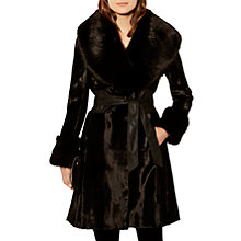 Buy Karen Millen Pony Coat, Black Online at johnlewis.com