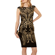 Buy Karen Millen Oriental Embroidered Dress, Black/Multi Online at johnlewis.com