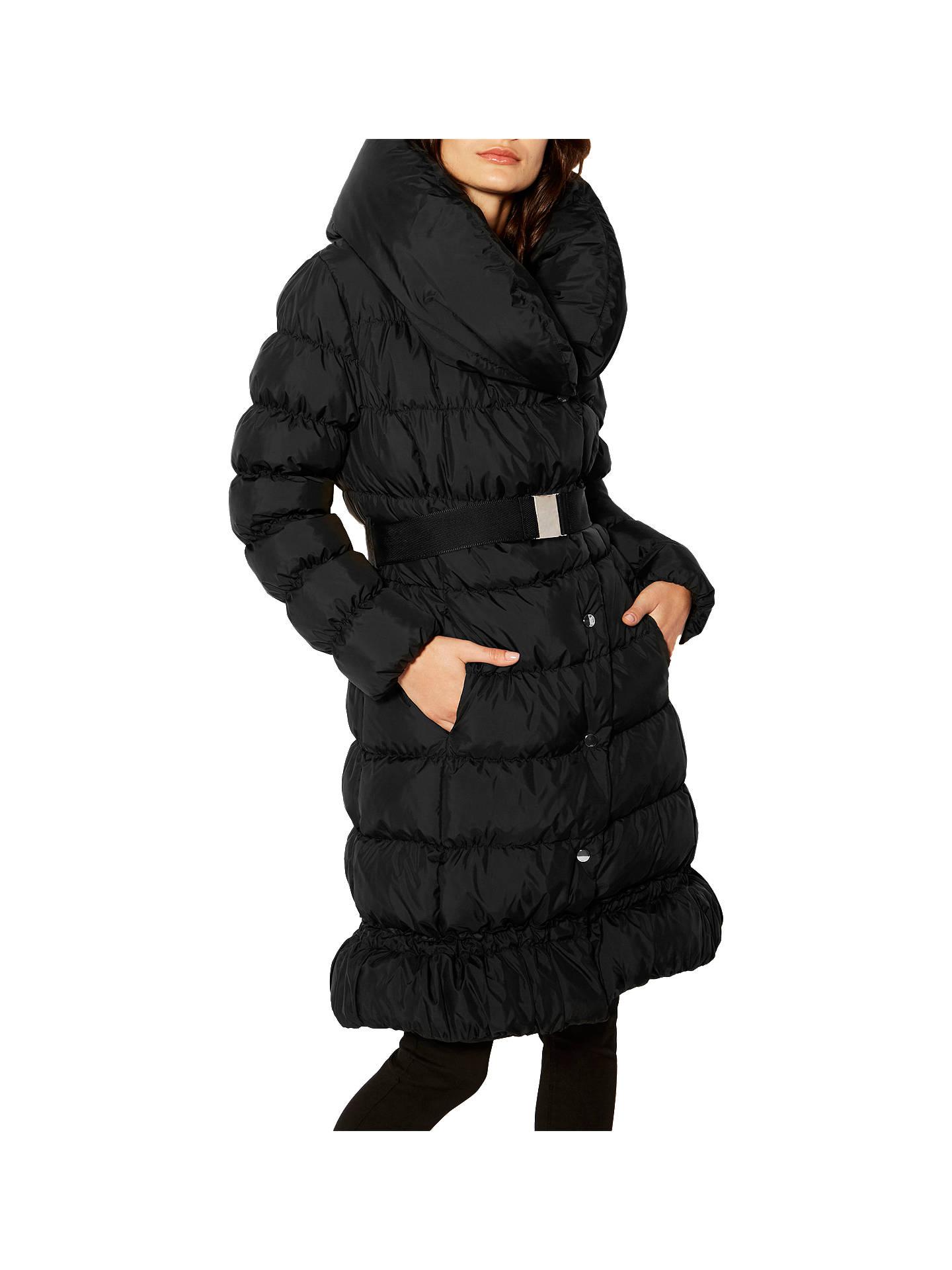 ae2a3301bc9 Buy Karen Millen Feather Filled Puffer Coat, Black, 6 Online at  johnlewis.com ...