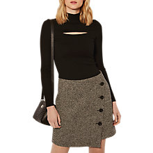 Buy Karen Millen Cut Out Turtleneck Jumper, Black Online at johnlewis.com