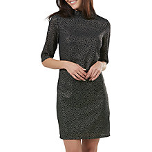 Buy Sugarhill Boutique Geometric Foil Print Dress, Black/Gold Online at johnlewis.com