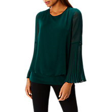 Buy Coast Elisa Pleated Calla Top, Forest Online at johnlewis.com
