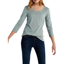 Buy White Stuff Brushed Layer Jersey T-Shirt, Pale Green Online at johnlewis.com