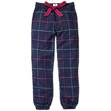 Buy Fat Face Iona Check Cuffed Pyjama Bottoms, Navy Online at johnlewis.com