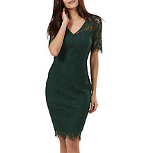 Buy Sugarhill Boutique Kim Lace Dress, Dark Green Online at johnlewis.com