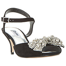 Buy Dune Majestie Kitten Heeled Sandals, Black Suede Online at johnlewis.com