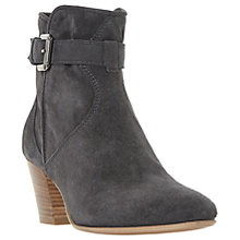 Buy Dune Black Portsmouth Block Heeled Ankle Boots Online at johnlewis.com
