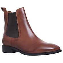 Buy Kurt Geiger Dalby Slip On Ankle Boots, Tan Leather Online at johnlewis.com