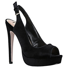 Buy Miss KG Esther Sling Back Platform Stiletto Heeled Sandals, Black Velvet Online at johnlewis.com