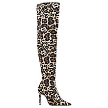 Buy Kurt Geiger Vallence Over the Knee Boots, Beige Online at johnlewis.com