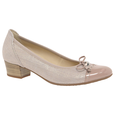 Gabor Islay Wide Fit Block Heeled Court Shoes