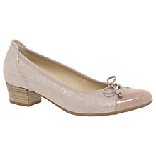 Buy Gabor Islay Wide Fit Block Heeled Court Shoes Online at johnlewis.com