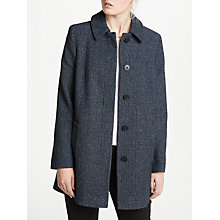Buy John Lewis Textured A-Line Coat, Blue Online at johnlewis.com