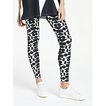 Buy PATTERNITY + John Lewis Signature Print Long Length Leggings, Black/White Online at johnlewis.com