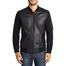 Buy BOSS Casual JIXX Sheepskin Bomber Jacket, Black Online at johnlewis.com