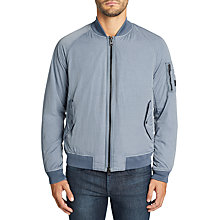 Buy BOSS Orange Onito -D MA-1 Bomber Jacket, Open Blue Online at johnlewis.com