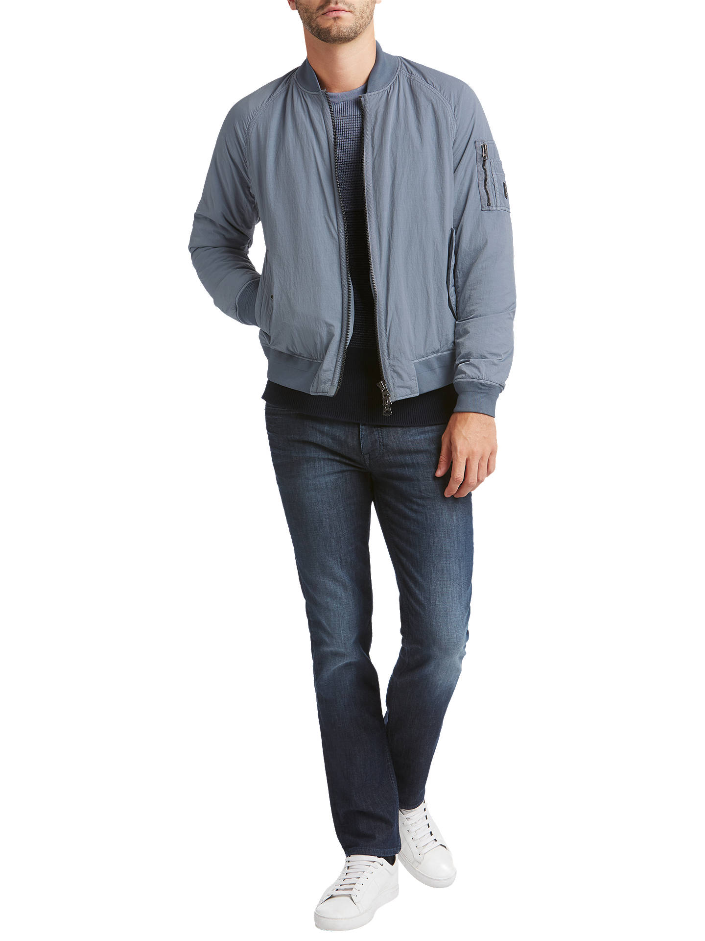BuyBOSS Orange Onito -D MA-1 Bomber Jacket, Open Blue, 36R Online at johnlewis.com