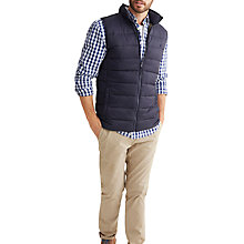 Buy Joules Go To Padded Gilet, Marine Navy Online at johnlewis.com