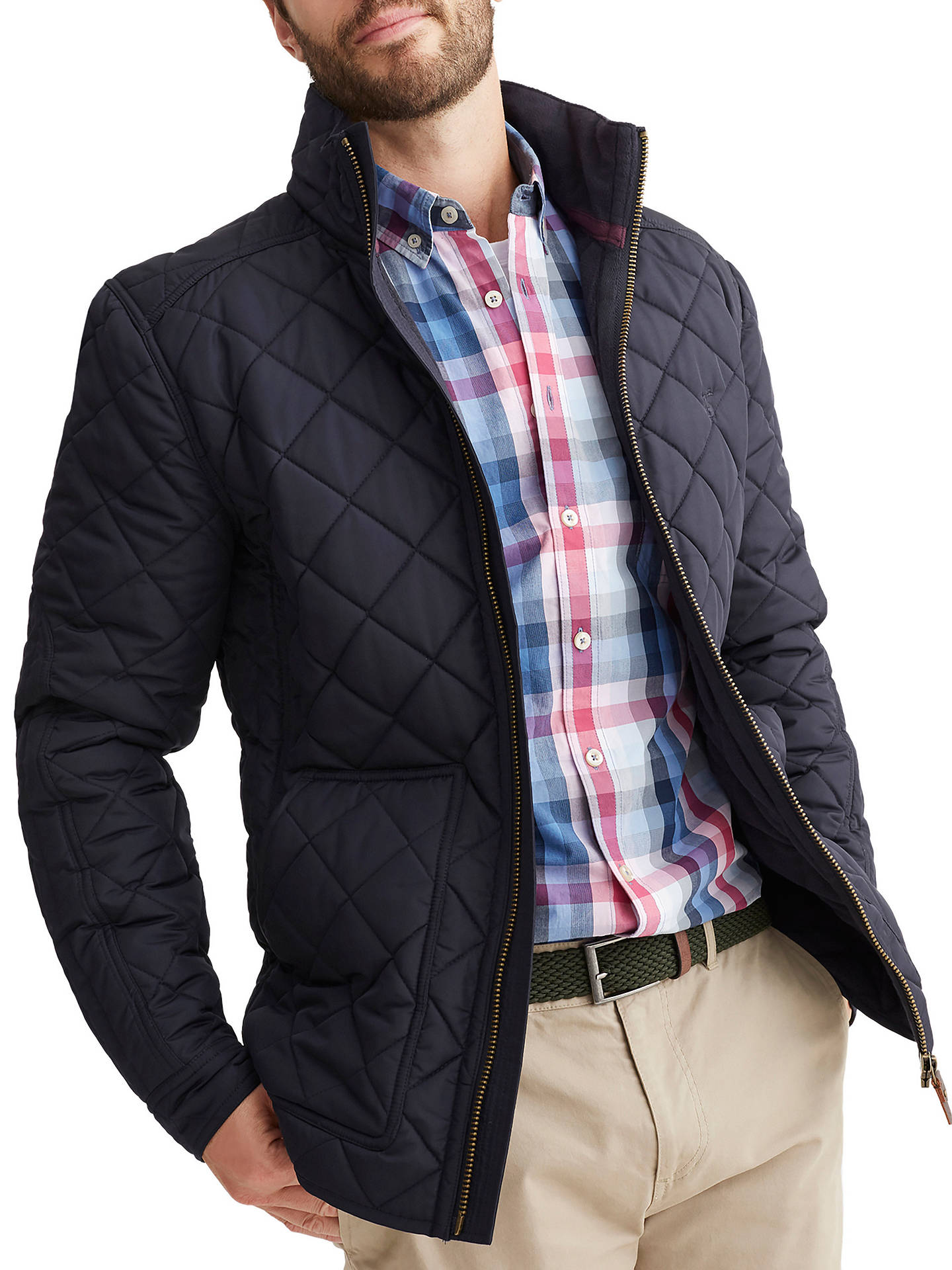 Joules Retreat Quilted Jacket Marine Navy At John Lewis Partners