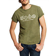 Buy Joules Get Lost And Find Yourself Graphic T-Shirt, Khaki Online at johnlewis.com