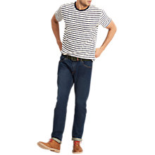 Buy Joules Skipper Short Sleeve Stripe T-Shirt, Cream/Navy Stripe Online at johnlewis.com