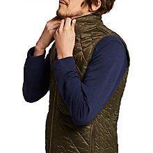 Buy Joules Outland Padded Gilet, Dark Khaki Online at johnlewis.com